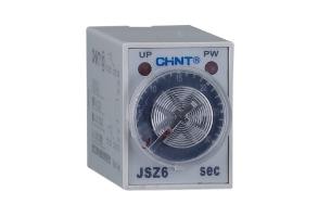 JSZ6系列时间继电器具有体积小、重量轻、结构紧凑、延时范围广、延时精度高、可靠性好、寿命长等特点,适用于机床自动控制,成套设备自动控制等要求高精度,高可靠性的自动控制系统作延时控制元件。