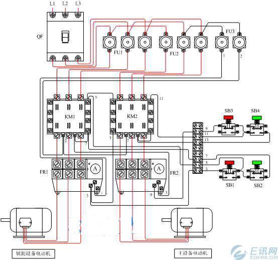 中断路器和交流接触器接线图图片